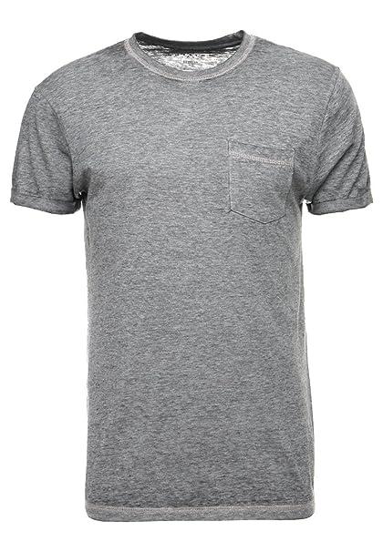 cc300649e0d958 YOURTURN Camiseta de Hombre con Bolsillo en el Pecho y Cuello Redondo -  Camiseta de Algodón - Top de Hombre Casual - Camiseta de Manga Corta:  Amazon.es: ...