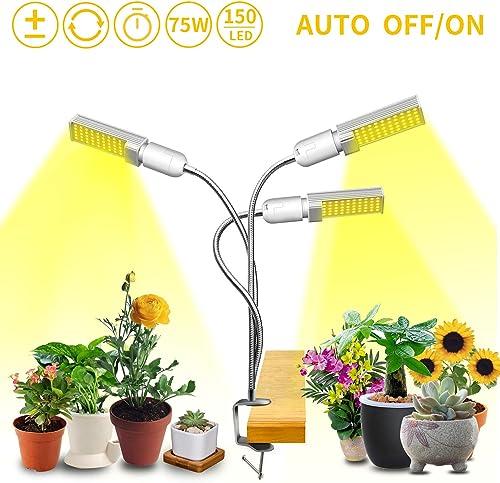 40W Full Spectrum LED Grow Light Bulbs E26 4 Pack, Grow Lamp Plant Light for Hydroponics Greenhouse Organic Indoor Plants