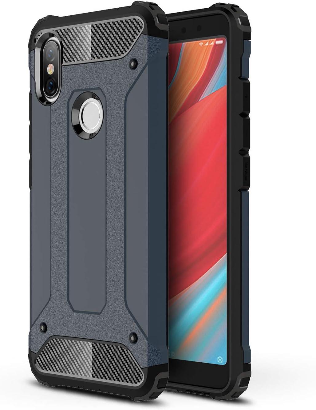 AOBOK Funda Xiaomi Redmi S2, Rojo Moda Armadura Híbrida Carcasa ...