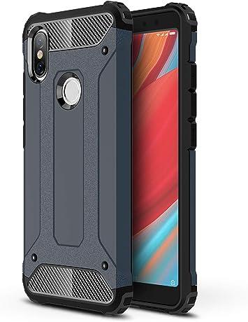 AOBOK Funda Xiaomi Redmi S2, Azul Profundo Moda Armadura Híbrida ...
