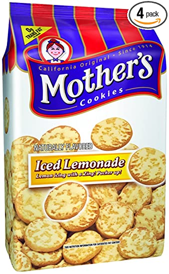 Mothers Iced Lemonade Cookies, 14-Ounce Bags (Pack of ...