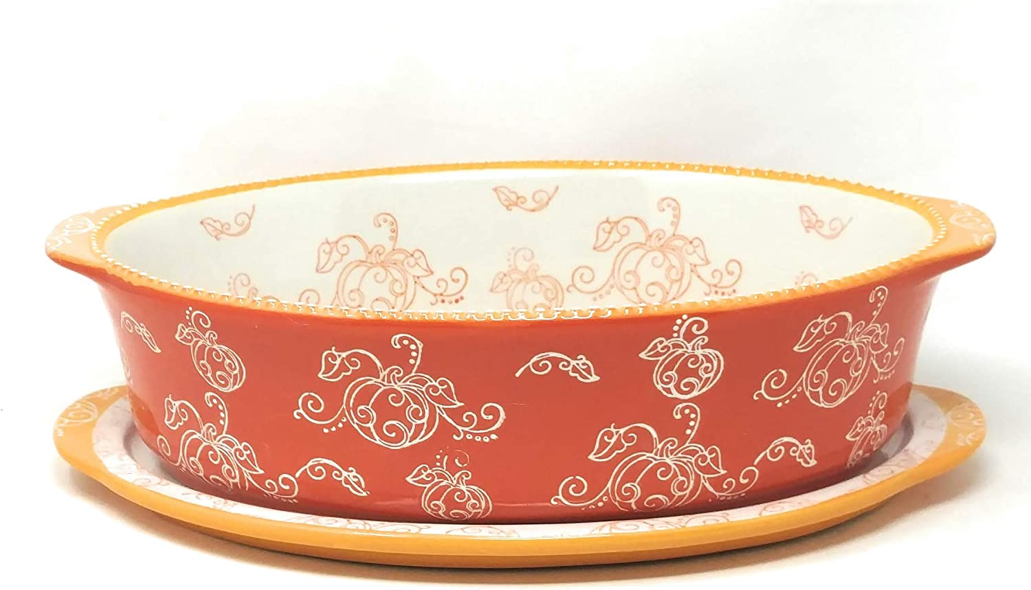 Floral Lace Romance Temp-tations 4 Qt DISH ONLY Baker Casserole or Lasagna Dish 13x9 Replacement No Accessories