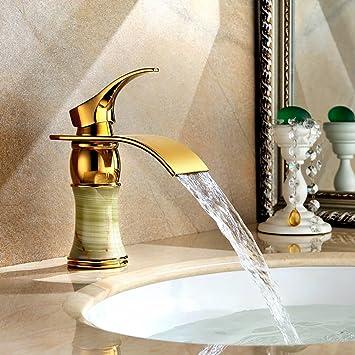 Hervorragend YYF FAUCET Waschtischarmatur Beckenhahn, Natürliche Jade Messingbeschläge,  Mode Ideen Desktop Wasserfall Hauptküche