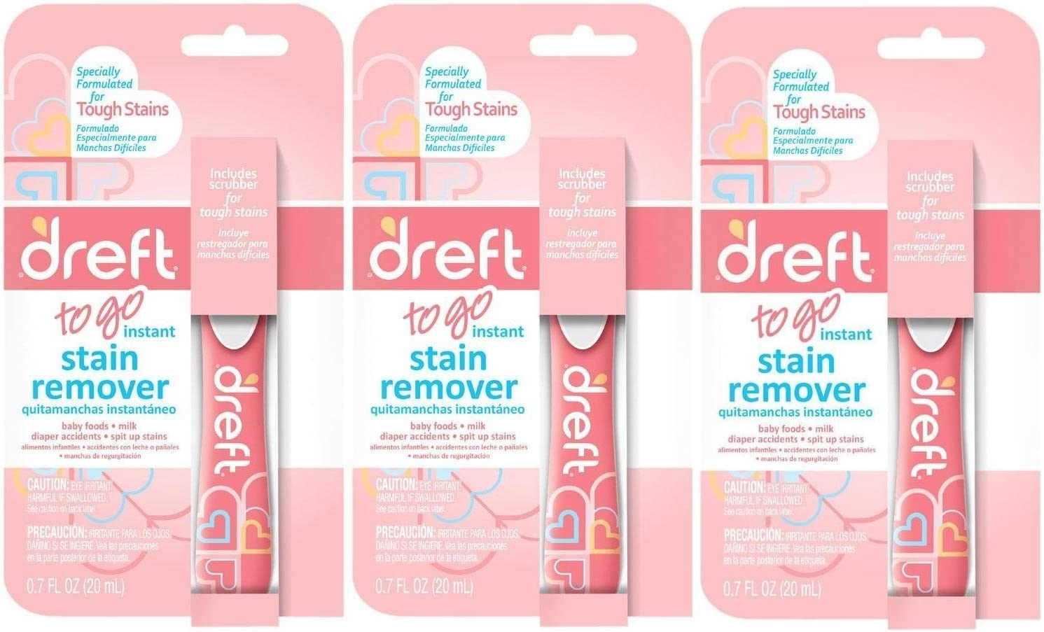 Dreft Baby on-the-go Laundry Detergent Instant Stain Remover Pen