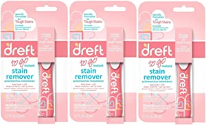 Dreft Baby Laundry Instant Stain Remover Pen, 0.7 Fluid Ounce (Pack of 3 Travel To-Go Pens)