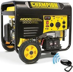 Champion Power Equipment Model 46565 3,500-4,000 Watt Remote Start Portable Gas-Powered Generator