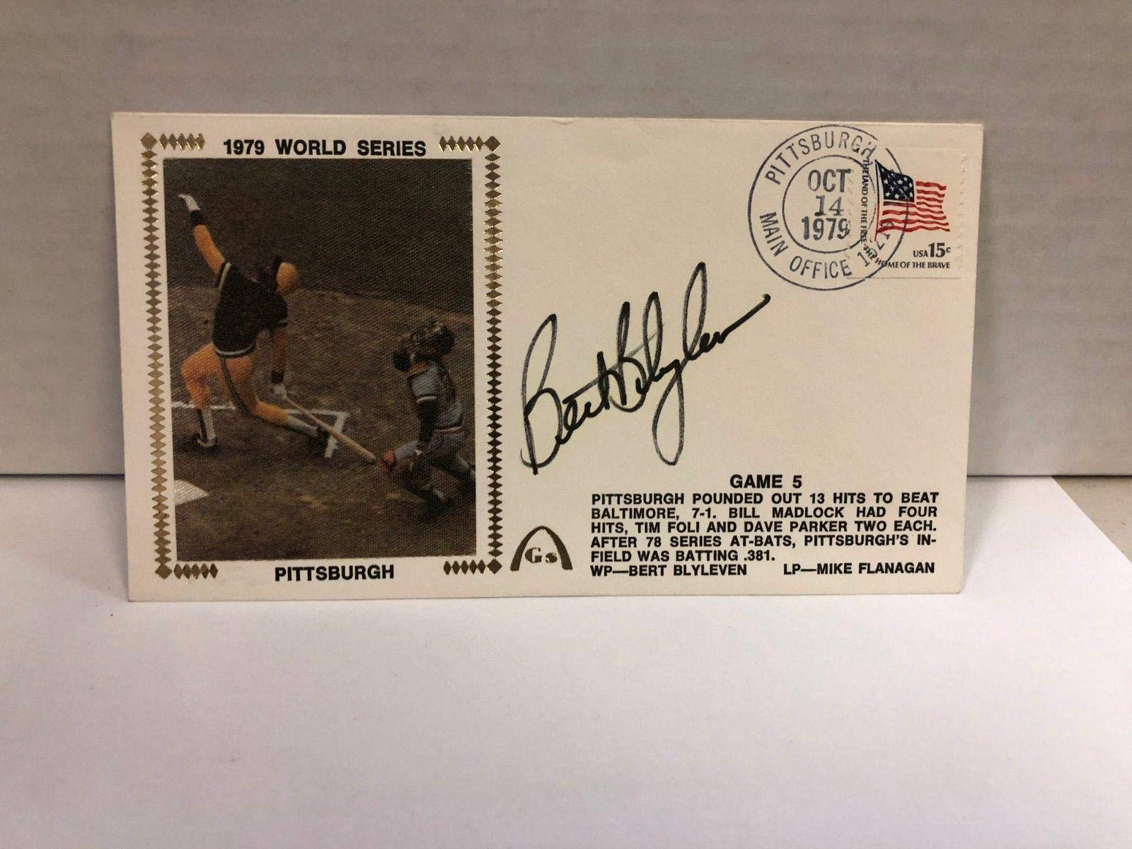 Bert Blyleven Autographed Signed Original Silk Cachet First Day Issue COA JSA Certified MLB Cut Signatures
