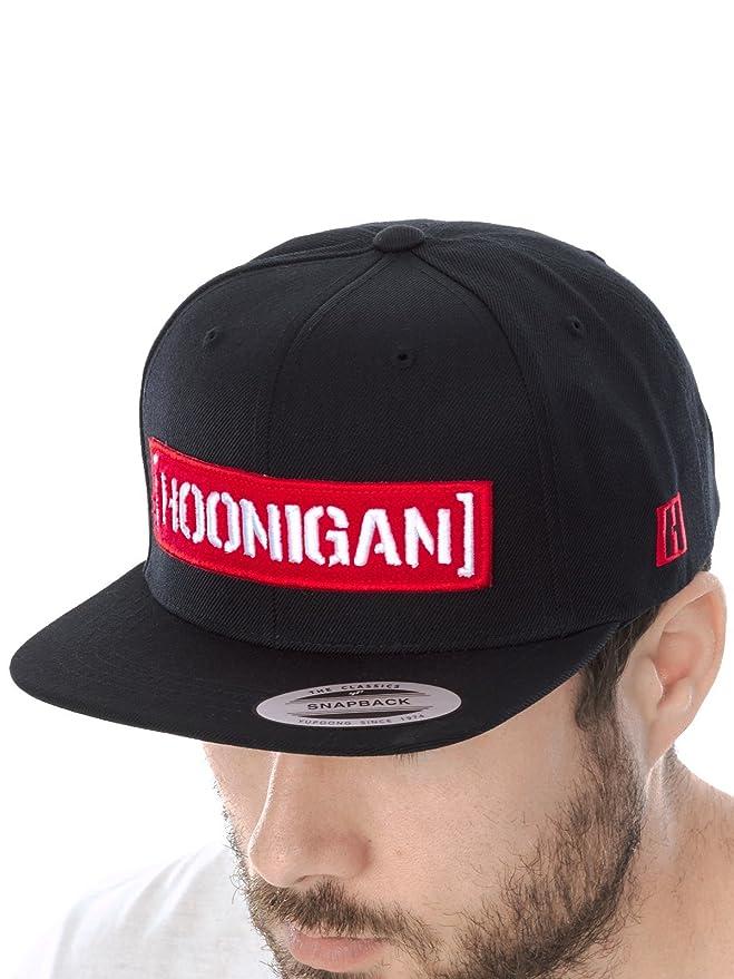 e85f2fed719e4 Hoonigan Black Letterman Snapback Cap  Amazon.co.uk  Clothing