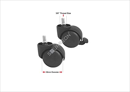 Squareon Industries Caster Wheels Set of 4 (50mm)