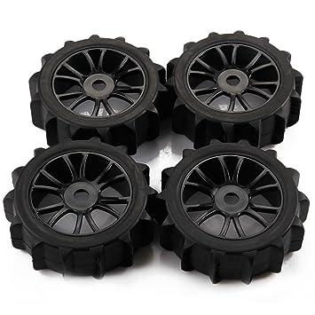 SkyQ 1/8 Escala RC Off Road Buggy Baja nieve arena pala neumáticos neumáticos y ruedas para HSP HPI (negro, 4 piezas): Amazon.es: Juguetes y juegos