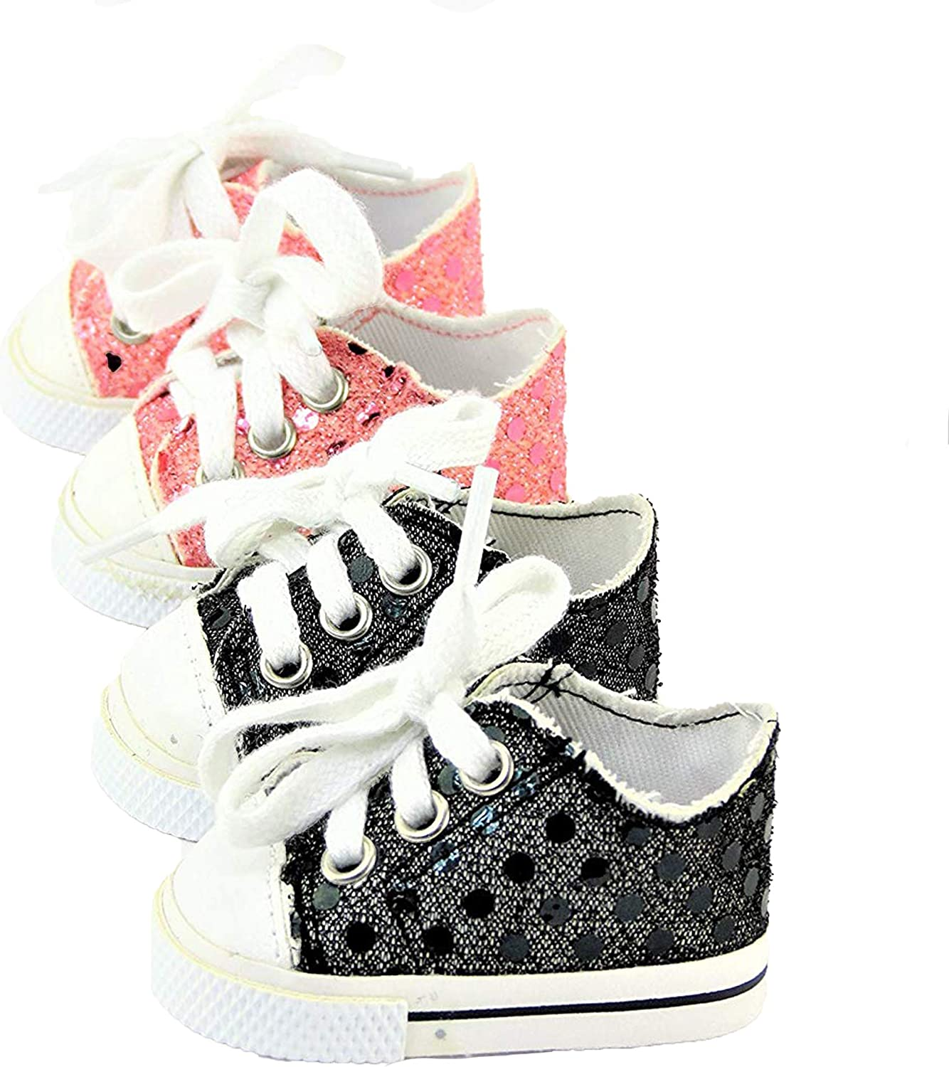 """Our Generation American Girl Doll 18/"""" Dolls Clothes Shoes Pink Sequin Sneakers"""