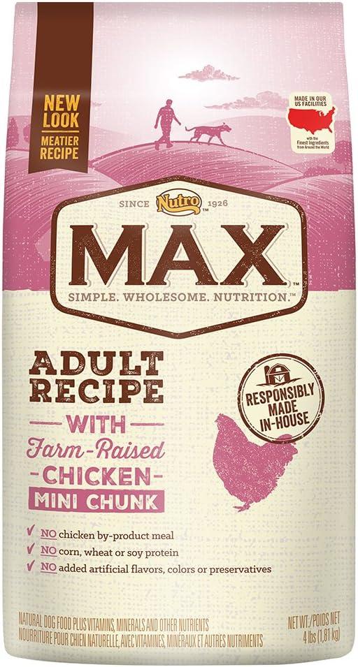 2. Nutro Max Mini Chunk Adult Recipe Dry Dog Food