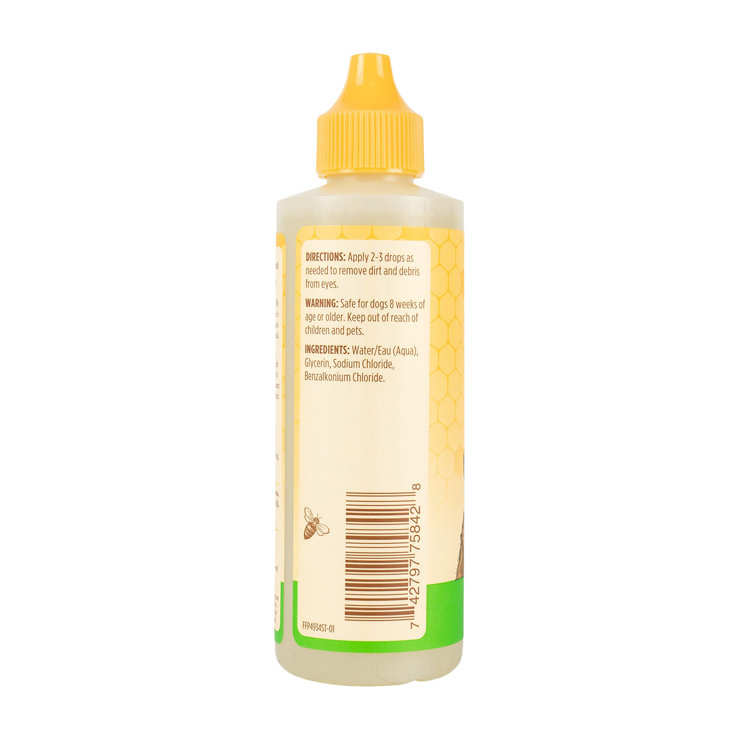 Burt's Bees for Dogs Natural Eye Wash with Saline Solution | Eye Wash Drops for Dogs Or Puppies, 4oz