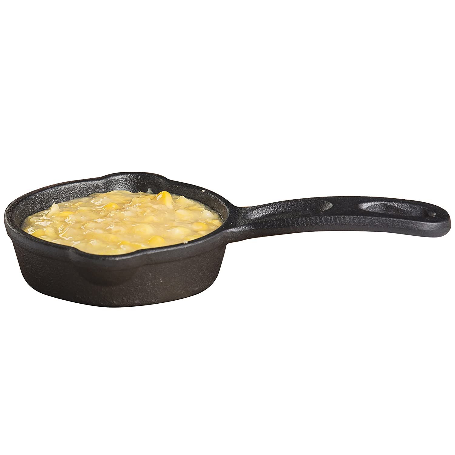 "TableCraft Products CW30122 Cast Iron Mini Round Skillet 3⅝"" Dia (6⅞"" with Handle) x 1¼"" D, 1.25"" Height, 4.125"" Width, 6.875"" Length"