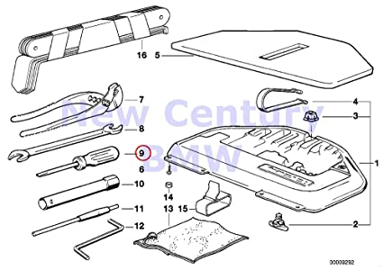 bmw genuine equipment parts parts and for engine/chassis screwdriver 1602  2002 2002tii 528i 530i