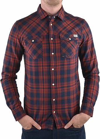 Blend - Camisa casual - para hombre wood red L: Amazon.es: Ropa y accesorios