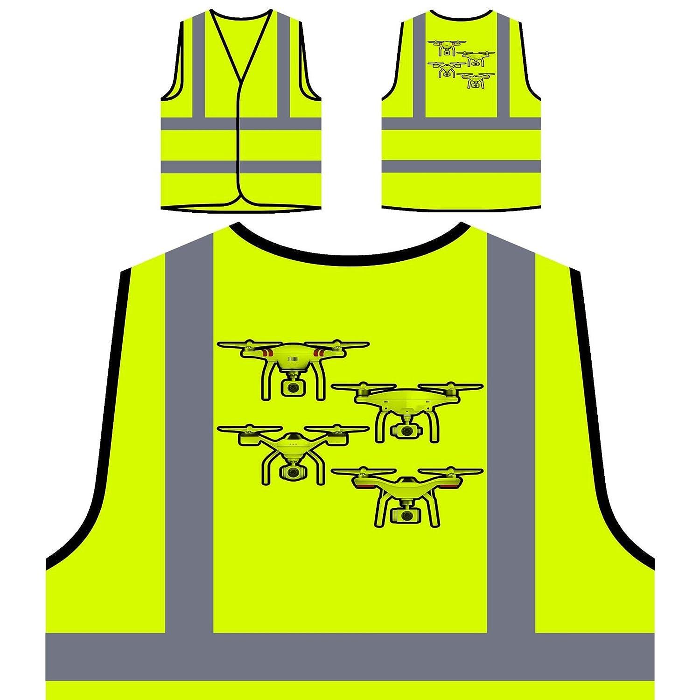 Drone Pilote D'Appareil Photo Veste de protection jaune personnalisée à haute visibilité r635v INNOGLEN