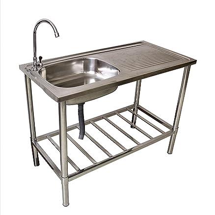 Lavello in acciaio inox cucina da campeggio attacco per tubo ...