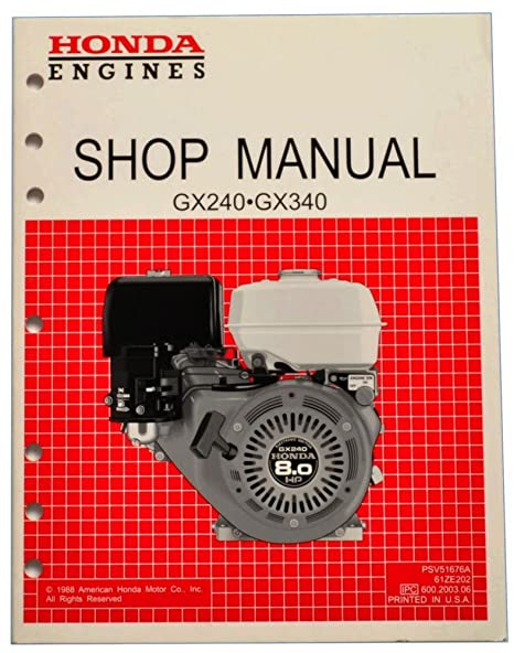 amazon com honda gx240 gx340 k0 engine service repair shop manual rh amazon com honda gx340 repair manual honda gx340 service manual