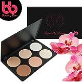 Beauty Bon Contour Kit, 6 Colors Professional Face Sculpting, Camouflage And Concealing Powder Makeup Blush Palette