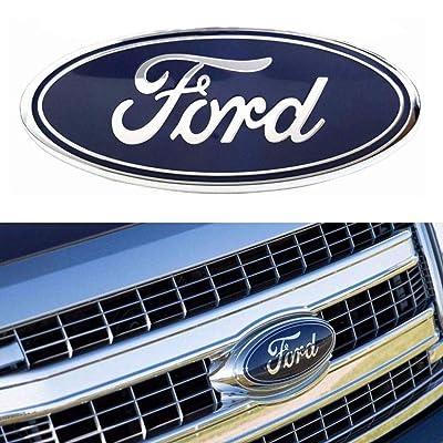 "For Ford Tailgate Emblem, F150 Emblem Oval 9""X3.5"" Ford Front Grille Emblem Decal Badge Nameplate Also Fits for 04-14 F250 F350, 11-14 Edge, 11-16 Explorer, 06-11 Ranger: Automotive"
