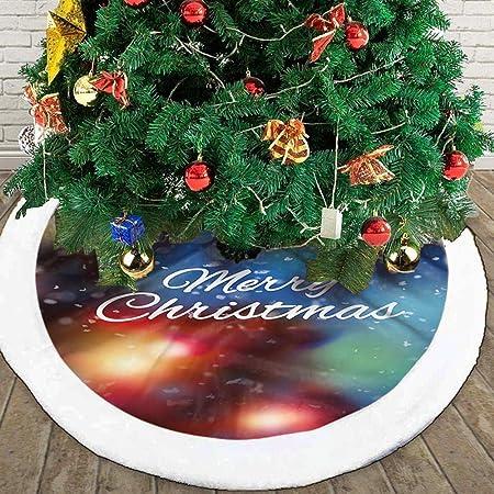 Christmas Tree Skirt,Falda De Árbol Blanco Como La Nieve Falda De ...