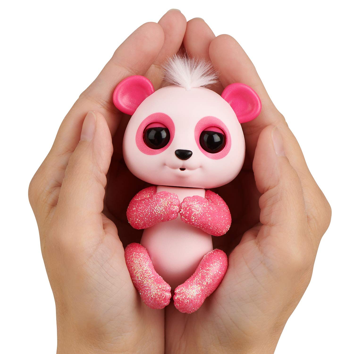 WowWee Fingerlings Glitter Panda - Polly - Interactive Collectible Baby Pet, Pink by WowWee (Image #3)
