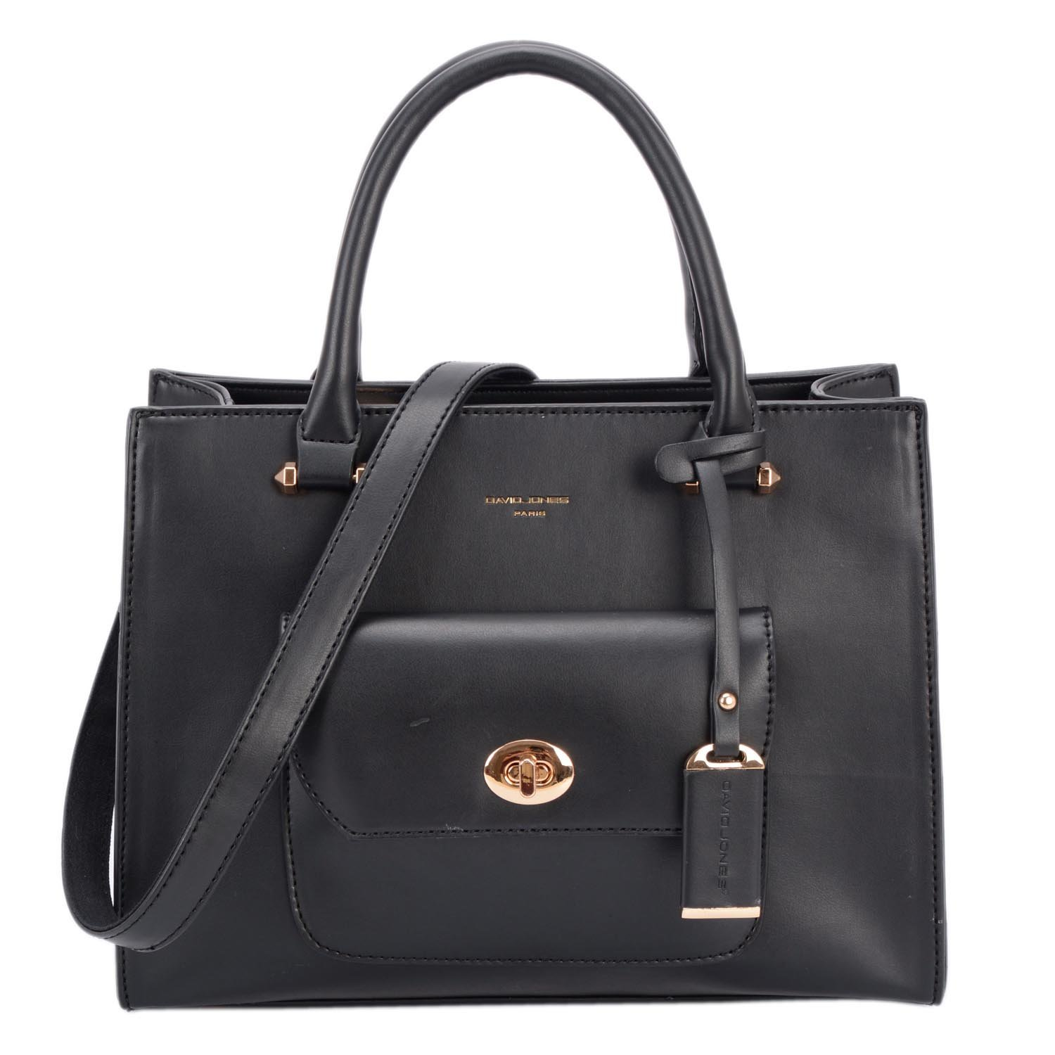 Womens Black Vegan Leather Structured Top Handle Purse with Compartments Crossbody Tote Bags