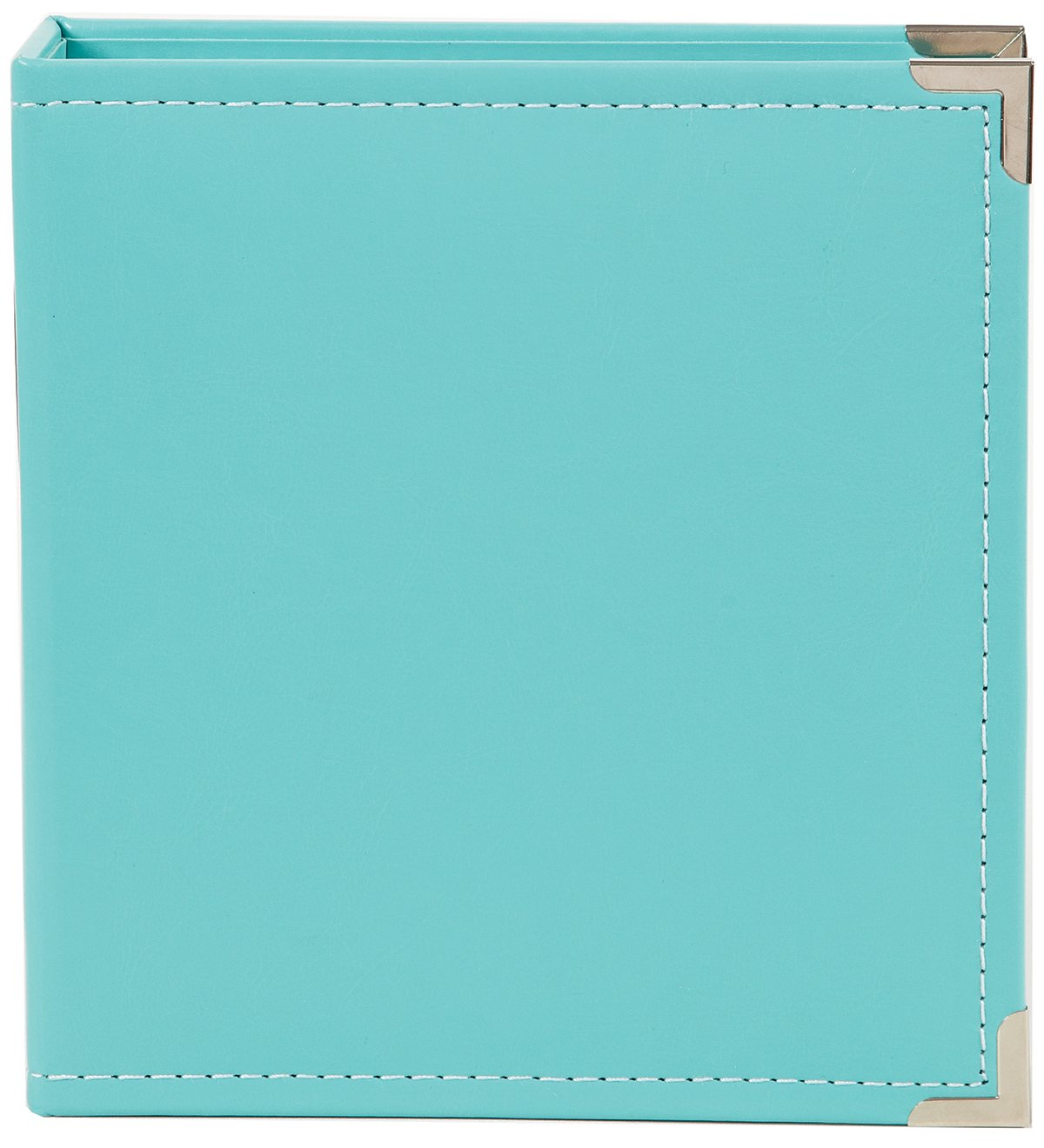 Simple Stories Faux Leather Binder, 6 by 8-Inch, Teal