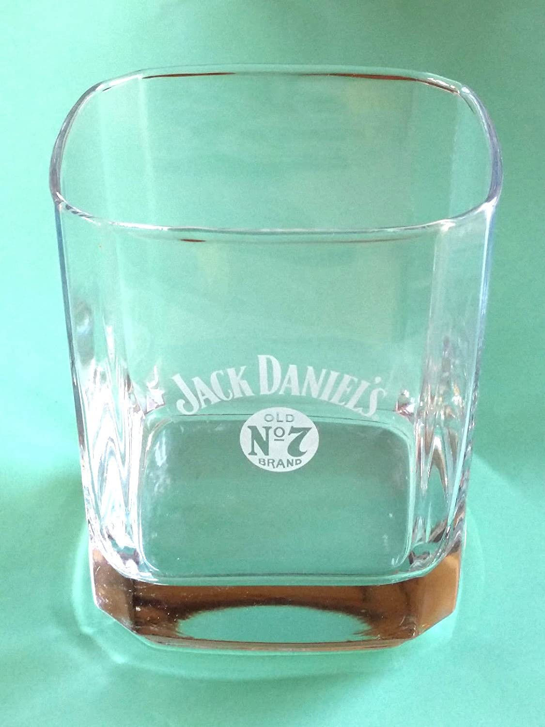 "JACK DANIEL/'S WHISKEY SQUARE HEAVY GLASS SHOT GLASSES  3.5/"" T X 2.75/""  SET OF 2"