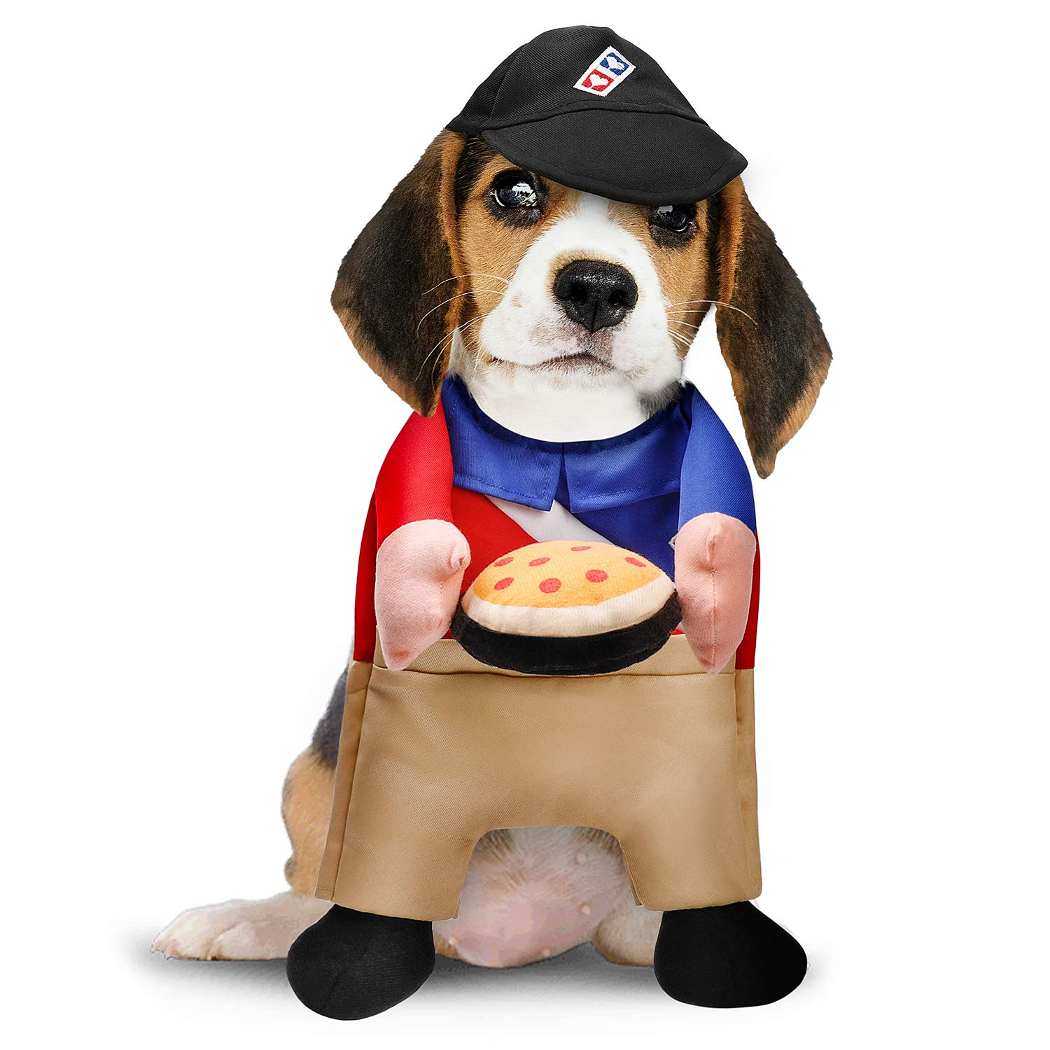 Toozey Dog Costume, Funny Pizza Delivery Costume for Dogs, Lovely Dog  Halloween Costume, Dog Costumes for Large, Medium, Small Dogs, XS,L
