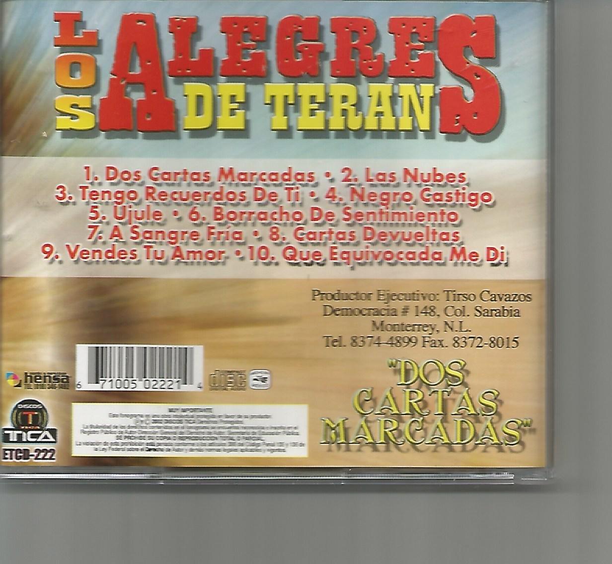 Dos Cartas Marcadas: Los Alegres de Teran: Amazon.es: Música