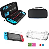 Lolo Nintendo Switch Accesorios Kit 4 En 1 Nintendo Switch Case + Estuche Transparente Nintendo Switch + 3X Protector de Pant