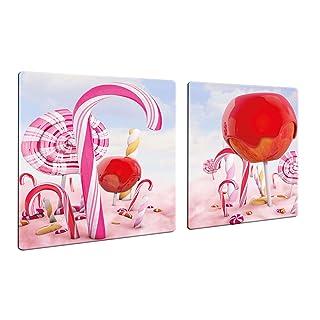 decorwelt CTC-Trade - Cubiertas para vitrocerámica (2 Unidades, 40 x 52 cm, 2 Unidades), Color Rosa y Rojo