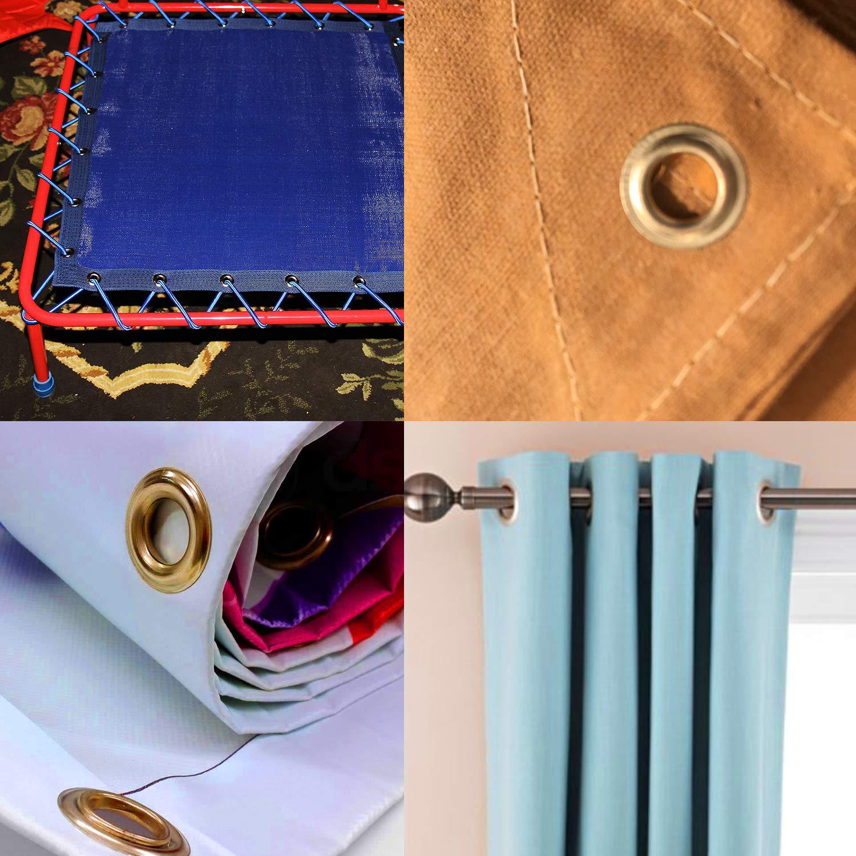 Plateado Anillos de 40/mm ojales plateados con arandelas de self-backing/ 25 Pieces /perfecto para cortinas cortinas y PVC banners por Trimming Shop