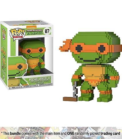 Amazon.com: Michelangelo: Funko POP. 8 bits x teenage mutant ...