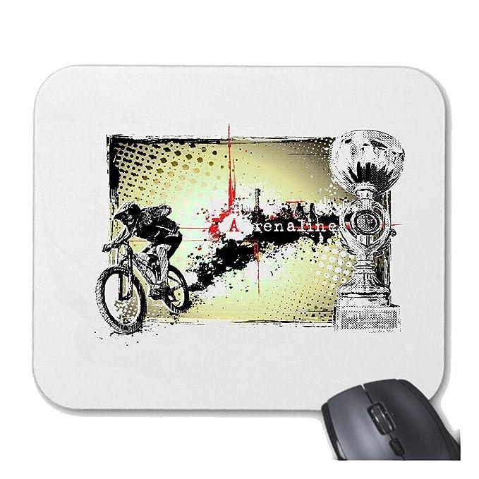 Mousepad alfombrilla de ratón MOUNTAIN BIKE ADRENALINE BTT reparación de la bicicleta de ciclo del paseo en bicicleta BTT CAMISA para su portátil, ordenador ...