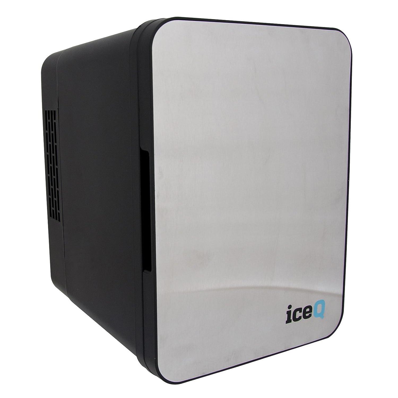 iceQ 4 Litre Small Mini Fridge Cooler - Stainless Steel/Black ICEQ4SB