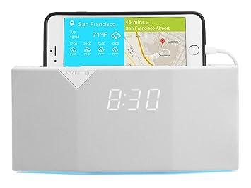 Radio-réveil Intelligent Connectée Blanc Maison