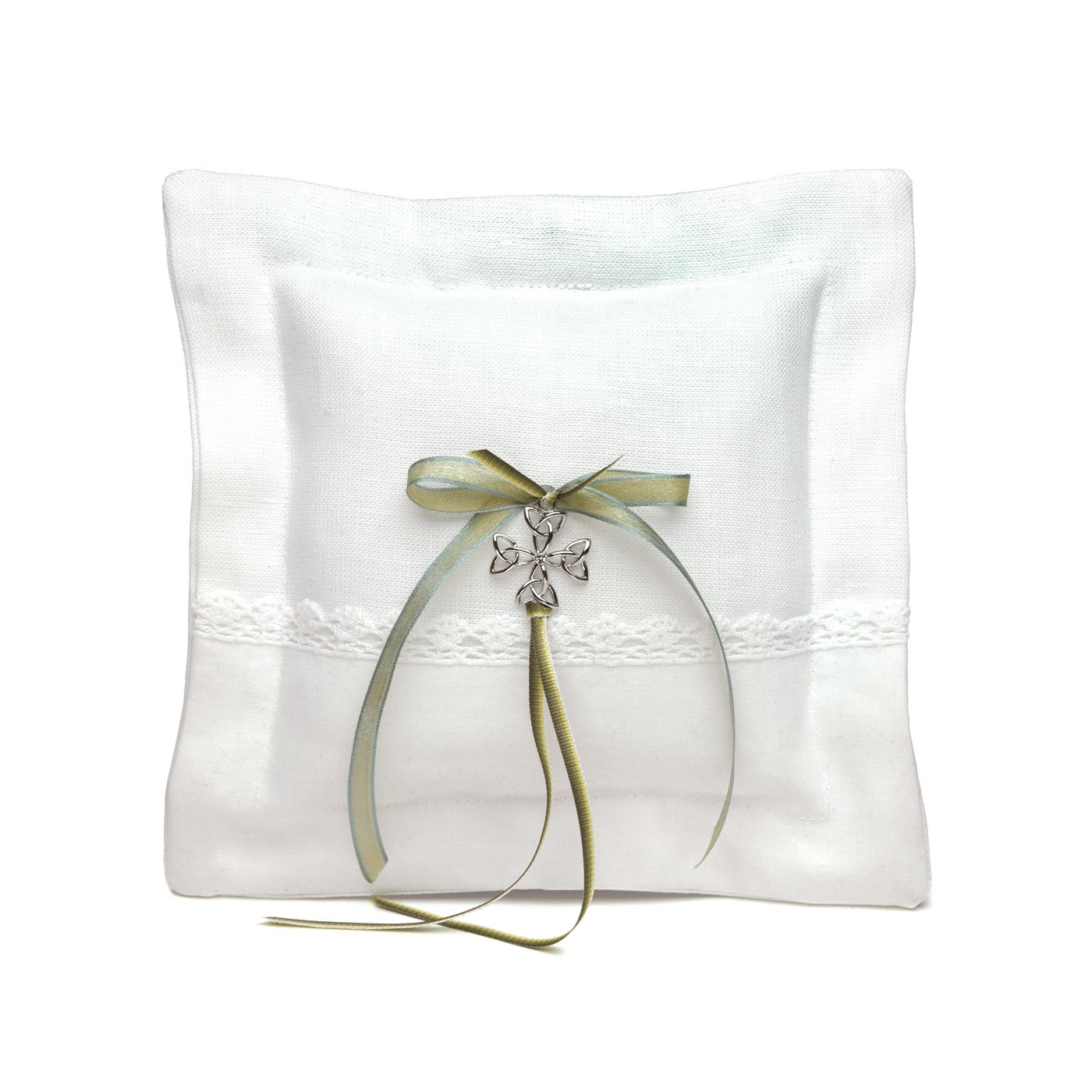 Weddingstar Celtic Charm Square Ring Pillow by Weddingstar Inc.