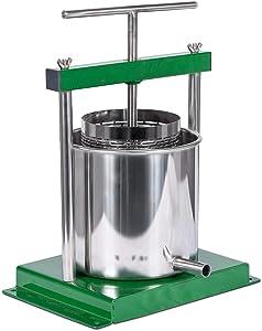 4.3 Liter (1.25 Gallon) Cider, Wine, Grape, Apple Press, For Apple Cider, Wine and Cider Making, Choose Size by Montimax