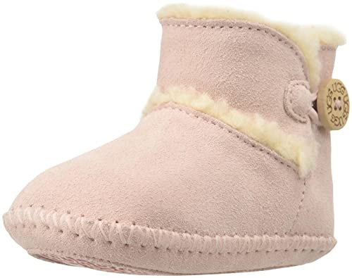 18a34d67cae3 Ugg Australia Lemmy Button Sheepskin Trim Boots BABY PINK 0-1  Amazon.co.uk   Shoes   Bags