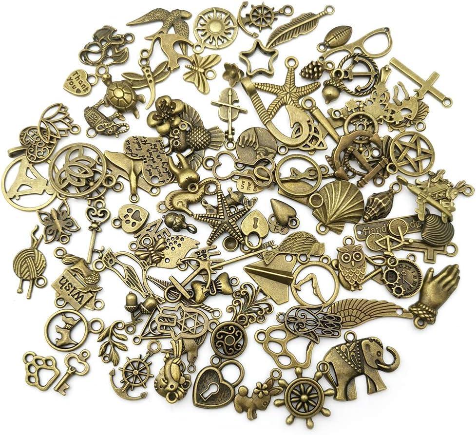 BULK 100 Spoon charms antique bronze tone BC171