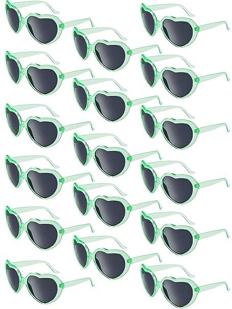Amazon.com: 17 pares de gafas de sol en forma de corazón de ...