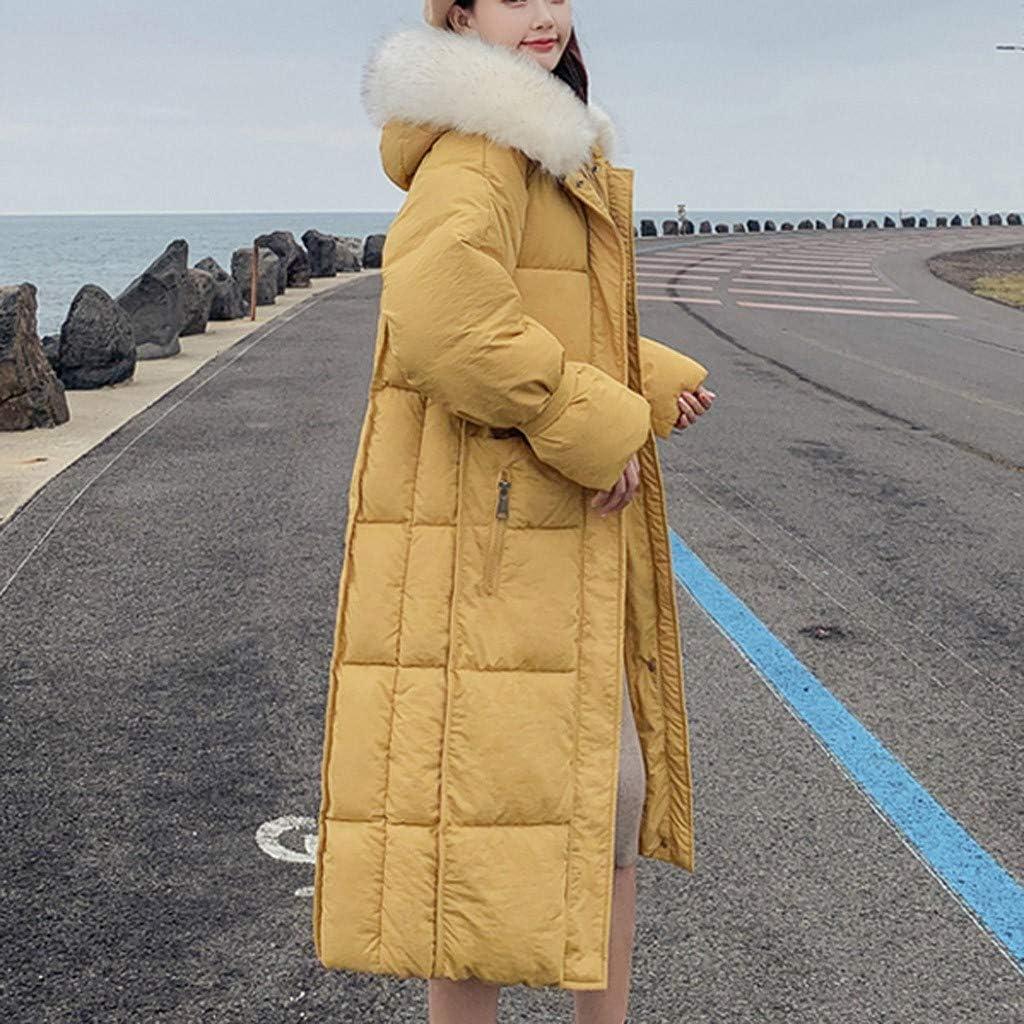 Yajiemen Fashion Outerwear Long Sleeve Hooded Jackets Cotton-Padded Pockets Bandage Coats