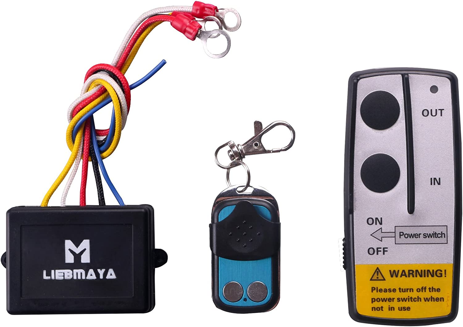 [SCHEMATICS_48DE]  Amazon.com: LIEBMAYA Wireless Winch Remote Control Kit for Truck Jeep ATV  SUV 12V Switch Handset: Home Improvement | Den Winch Wiring Diagram |  | Amazon.com