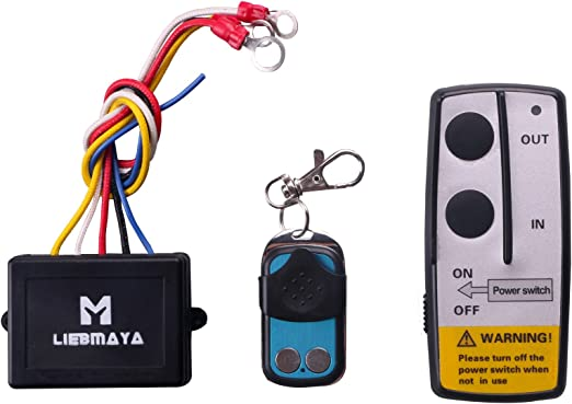 LIEBMAYA Wireless Winch Remote Control Kit for Truck Jeep ATV SUV 12V on warn winch remote, warn winch compressor, warn 8274 wiring-diagram, warn winch 2500 solenoid, warn winch assembly, warn winch coil, warn winch wiring guide, warn winch mounting diagram, warn winch schematic, warn atv winch relay, warn winch bags, warn winch 8274 solenoids, warn winch 2500 diagram, warn winch solenoid problems, warn winch system, warn winch disassembly, warn 11690 diagram, warn winch solenoid replacement, warn winch 16.5ti, warn winch switch,
