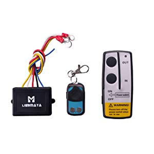 LIEBMAYA Wireless Remote Control Kit for Truck Jeep ATV Winch 12V