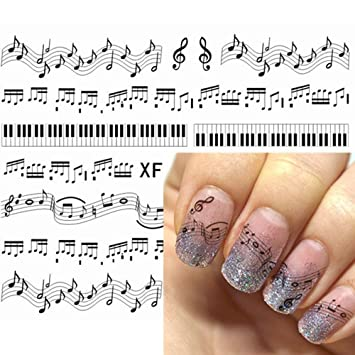 Amazon Malarun Pattern Art Transfer Accessories Piano Keys Nail
