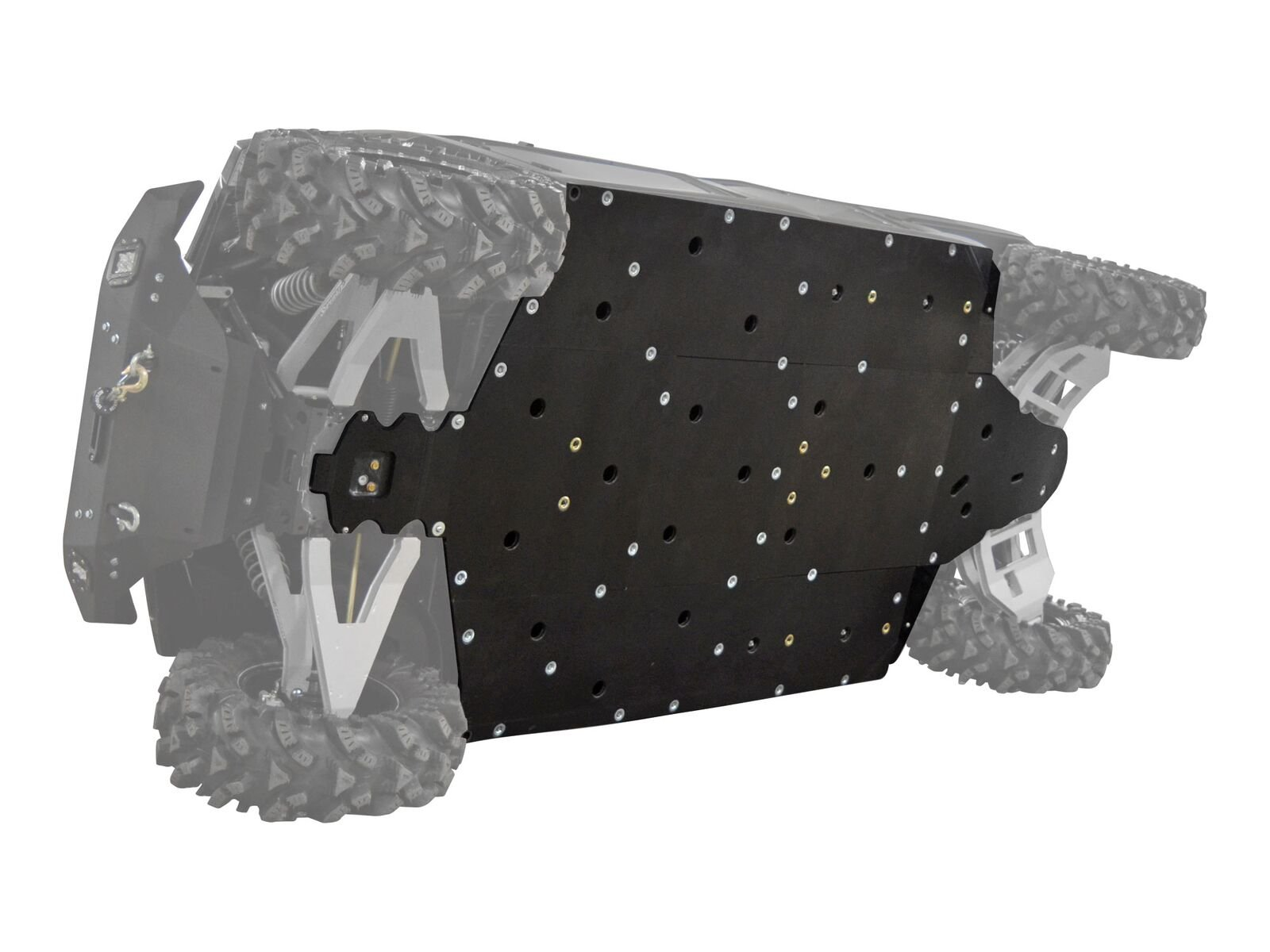 SuperATV Polaris Ranger Fullsize 570 / 900 / Diesel / 1000 Heavy Duty ARMW Full Skid Plate (2014+) - 4 Seater / Crew